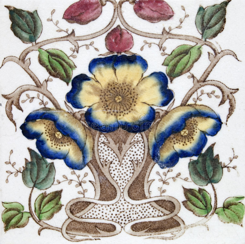 античная плитка nouveau искусства стоковое изображение