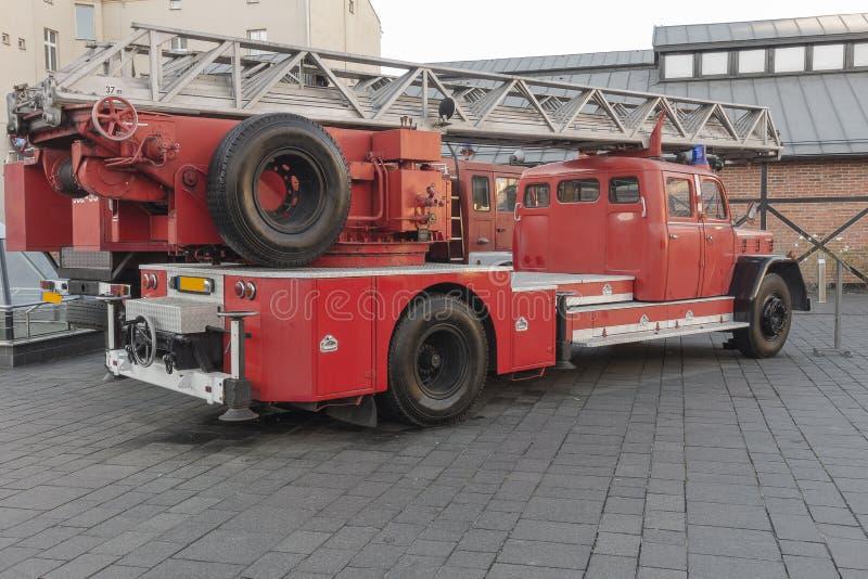 античная пожарная машина стоковое фото