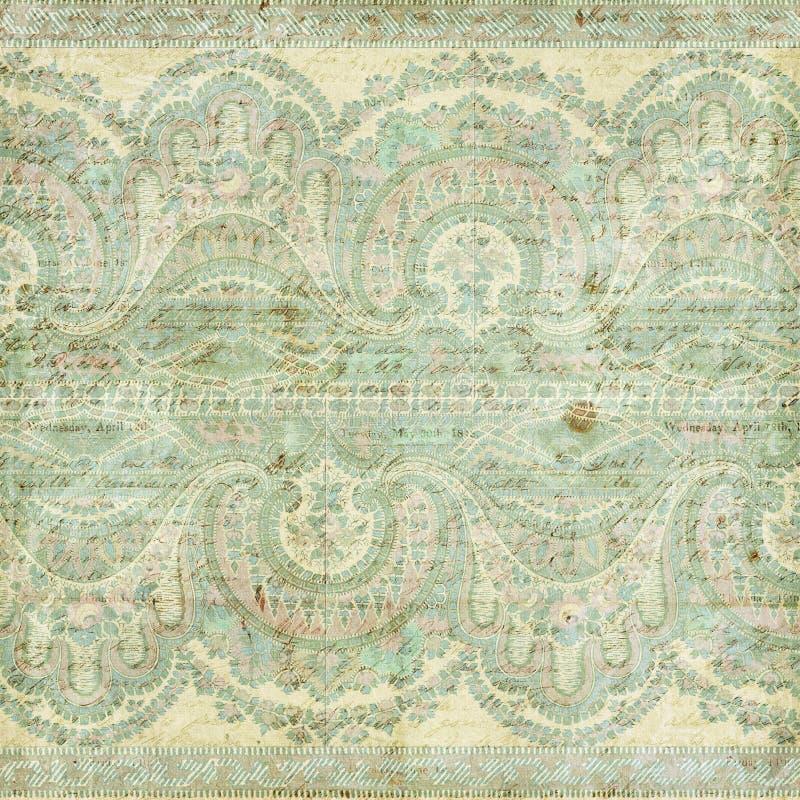 Античная предпосылка индейца paisley сбора винограда стоковые фотографии rf