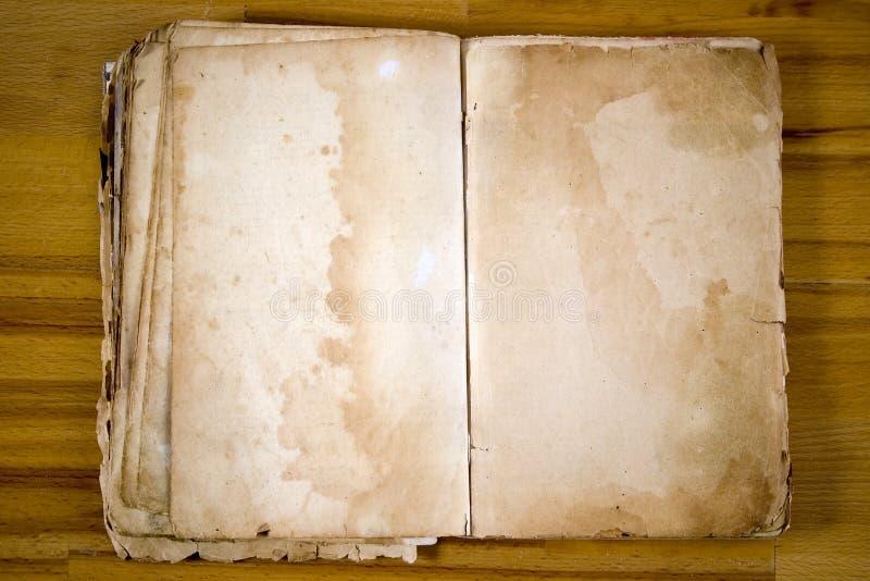 античная пустая книга старая стоковые изображения rf