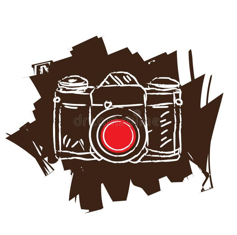 античная пленка камеры иллюстрация вектора