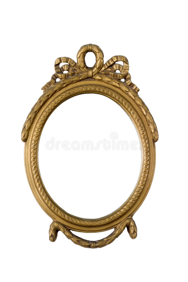 античная рамка золотистая стоковые изображения rf