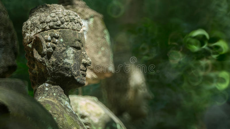 Античная статуя изображения Будды стоковые фотографии rf
