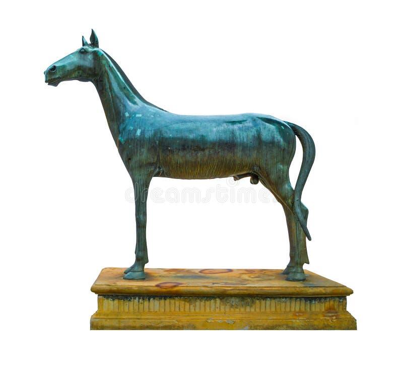 Античная статуя лошади металла иллюстрация штока