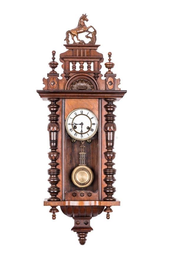античная стена часов стоковое изображение rf