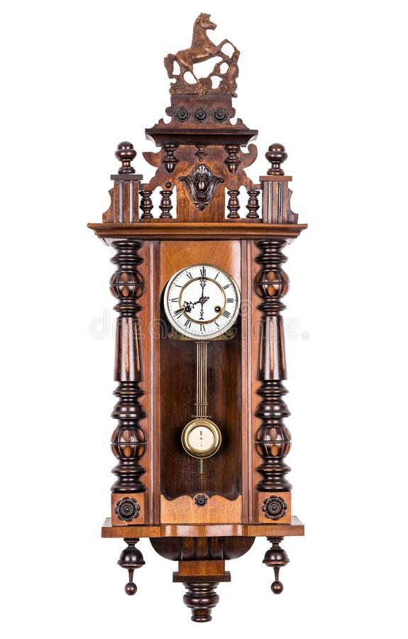 античная стена часов стоковое фото