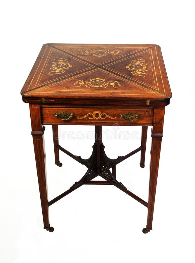 античная таблица rosewood карточки стоковое изображение