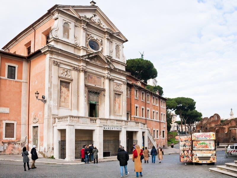 Античная тюрьма Mamertine в Риме, Италии стоковые изображения