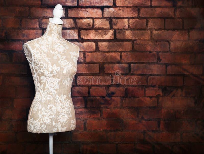 Античная форма платья с винтажным взглядом стоковые изображения