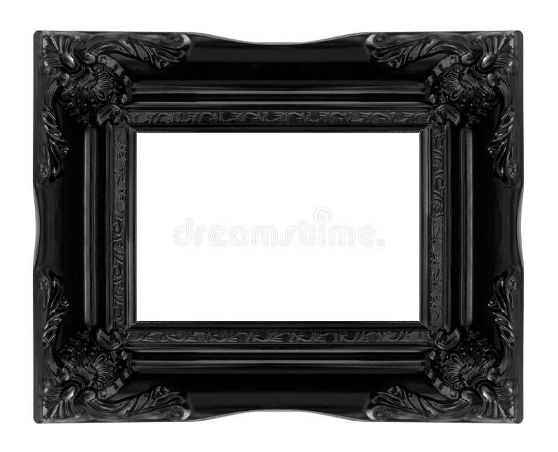 Античная черная деревянная картинная рамка стоковые фотографии rf