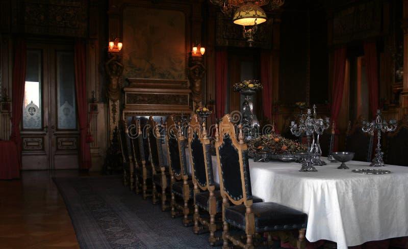 античная dinning комната стоковое изображение