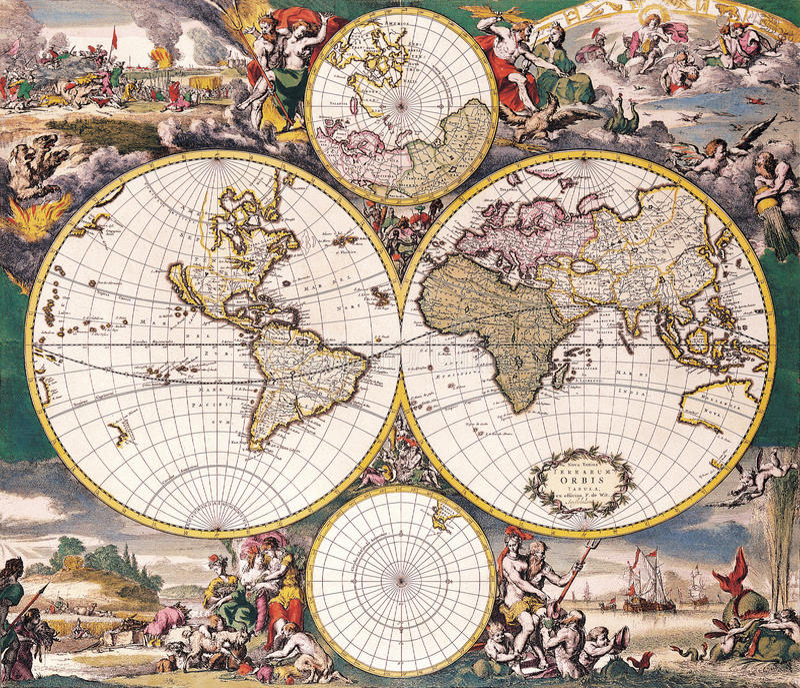 античное высокое качество карты иллюстрация вектора