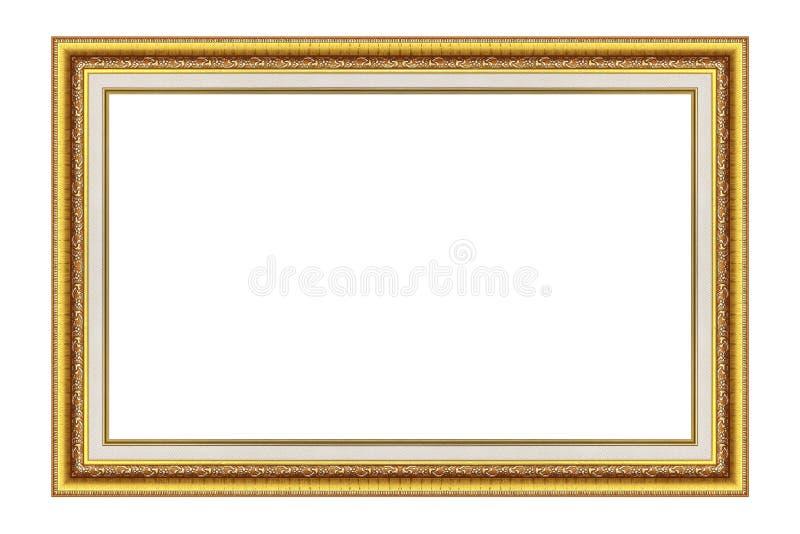 античное золото рамки изолировало белизну изображения стоковые фотографии rf