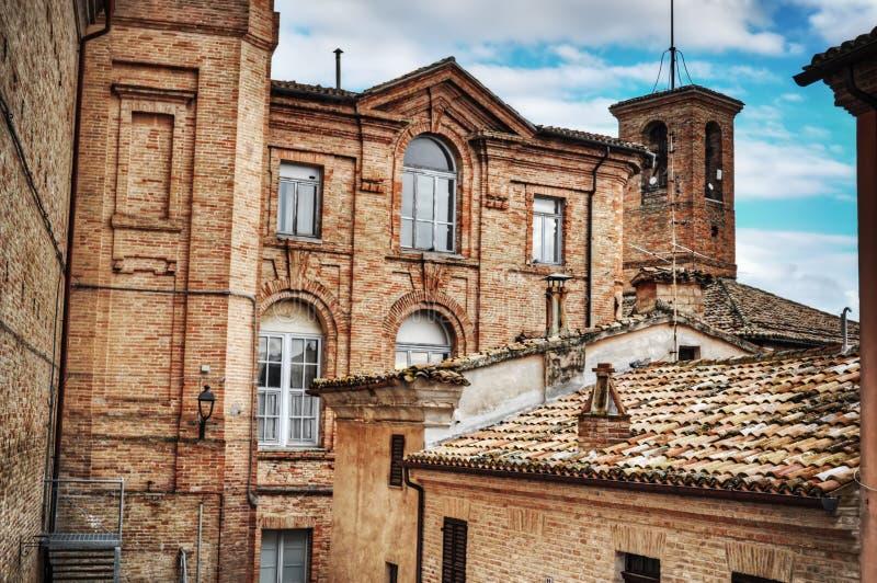 Античное здание в Corinaldo стоковое изображение