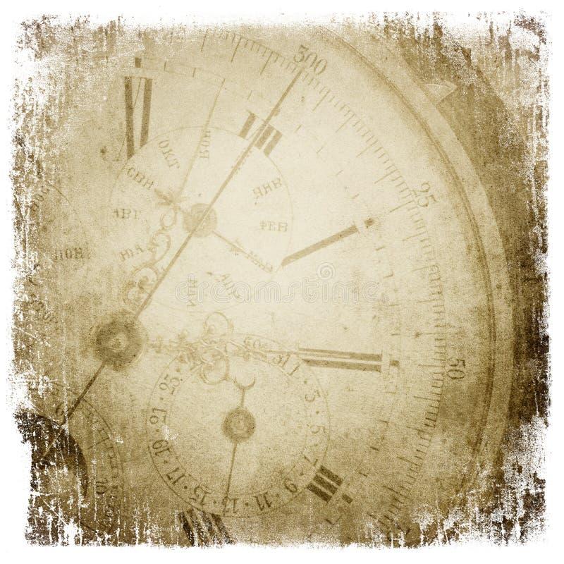античное карманн стороны часов бесплатная иллюстрация
