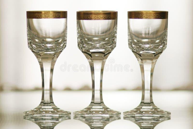 Античное кристаллическое стекло с натюрмортом 1 оформления золота стоковое фото rf