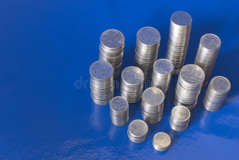 Античные бразильские деньги - Cruzeiros и Cruzados стоковая фотография