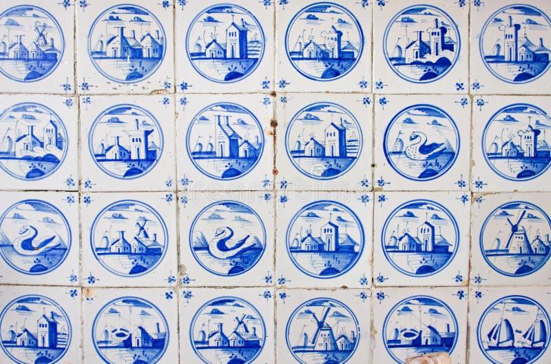 Античные голландские плитки стоковые изображения