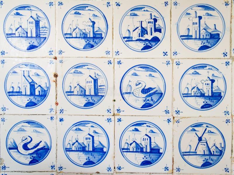 Античные голландские плитки стоковая фотография rf