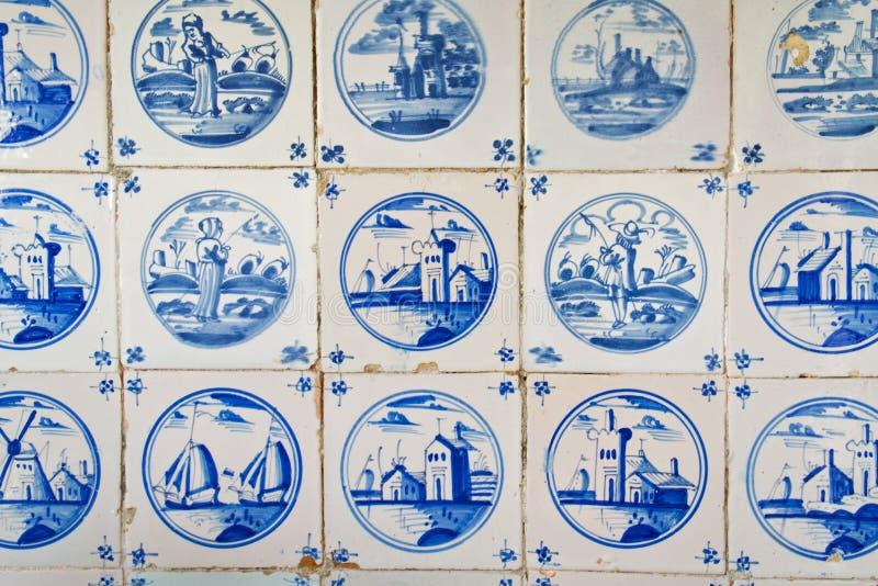 Античные голландские плитки стоковое изображение rf