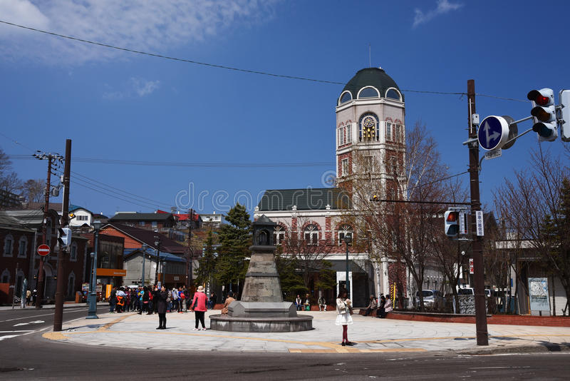 Античные здания на улице Sakaimachi, Otaru стоковое изображение