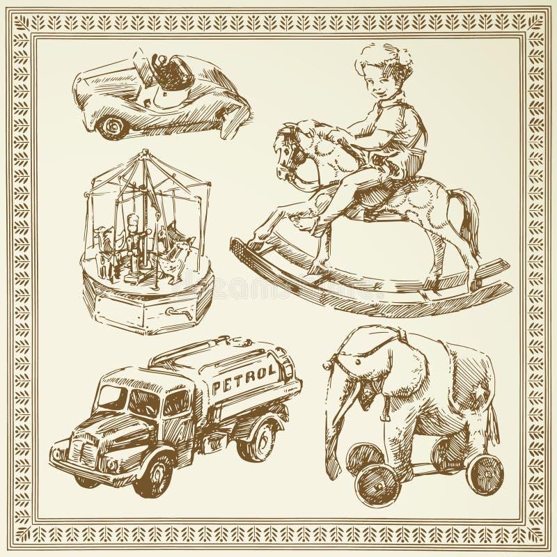 античные игрушки иллюстрация штока