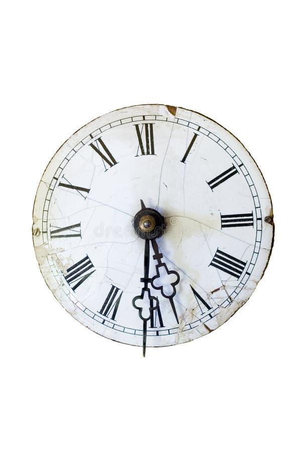 античные изолированные часы стоковая фотография