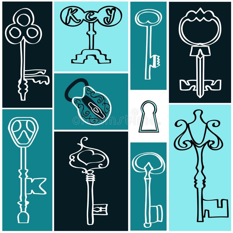 античные ключи собрания стоковая фотография