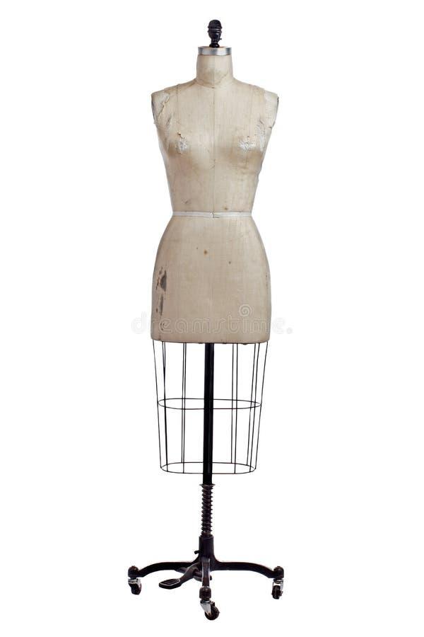 Античные провод и полотно одевают форму на стойке стоковая фотография
