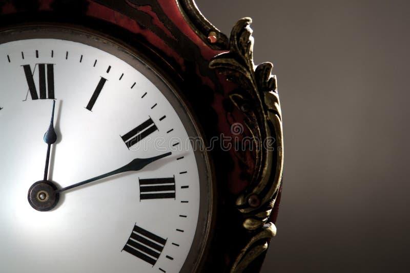 античные руки стороны часов стоковые изображения