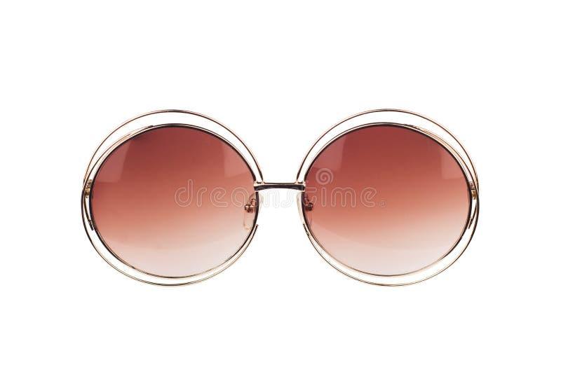 Античные солнечные очки хипстера изолированные на белизне стоковые фото