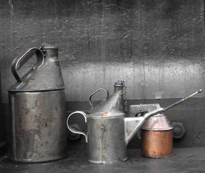Античные сосуды масла стоковое изображение