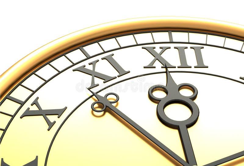 античные часы 3d старые иллюстрация штока
