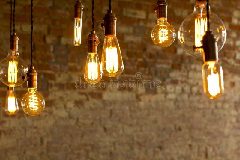 Античные электрические лампочки стоковое фото rf
