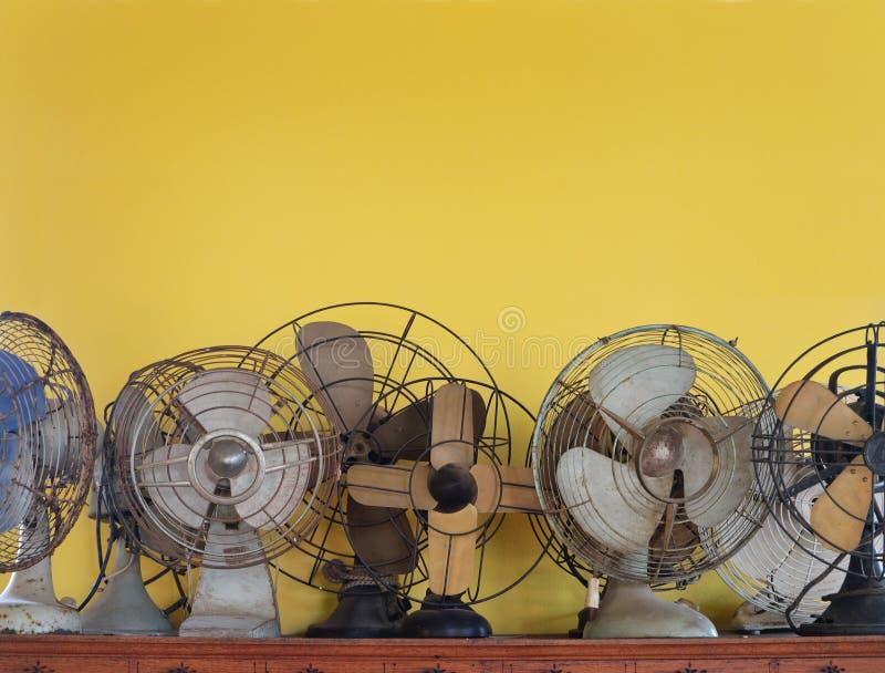Античные электрические вентиляторы стоковые изображения rf