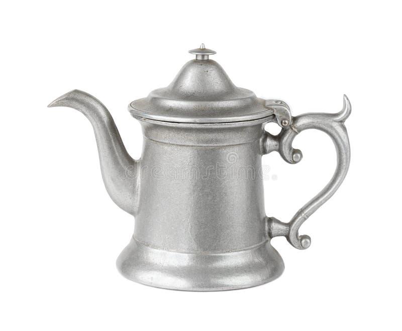 Античный бак кофе металла стоковые изображения rf
