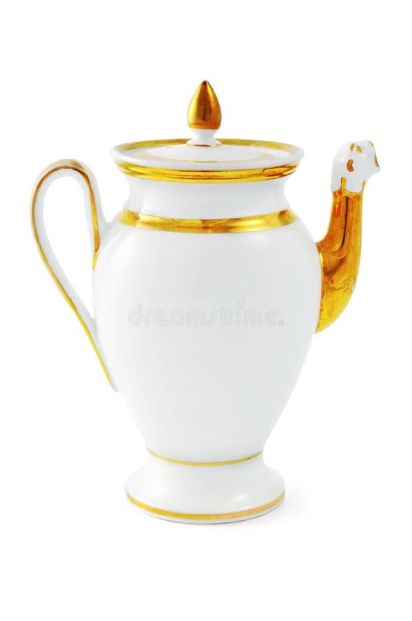 Античный бак кофе от XIX века & x28; Time& x29 Biedermeier; стоковое фото