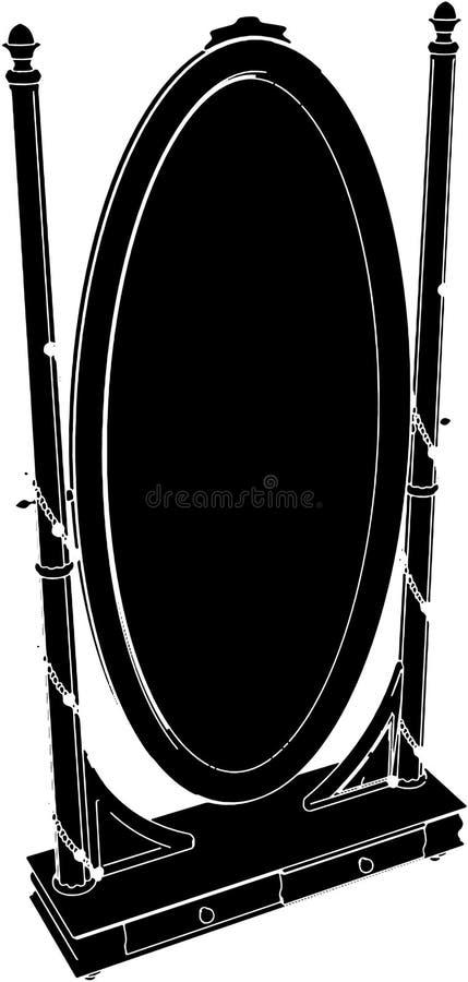 античный вектор зеркала commode 03 бесплатная иллюстрация