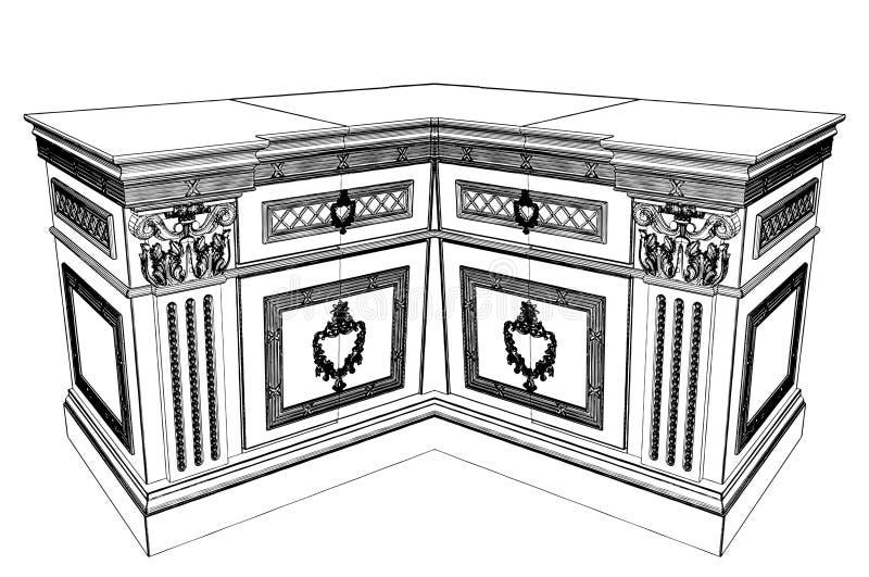 античный вектор commode 11 бесплатная иллюстрация