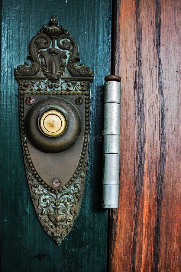 Античный дверной звонок стоковое фото rf