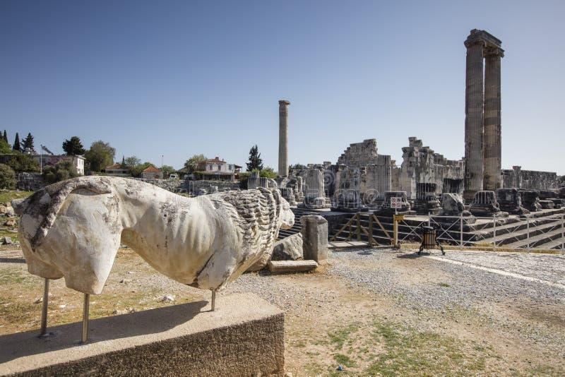 античный висок didyma города apollo стоковая фотография rf