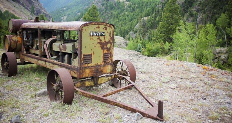 Античный генератор Davey, шахта Ulay Юта, город-привидение Henson, Alpin стоковое изображение