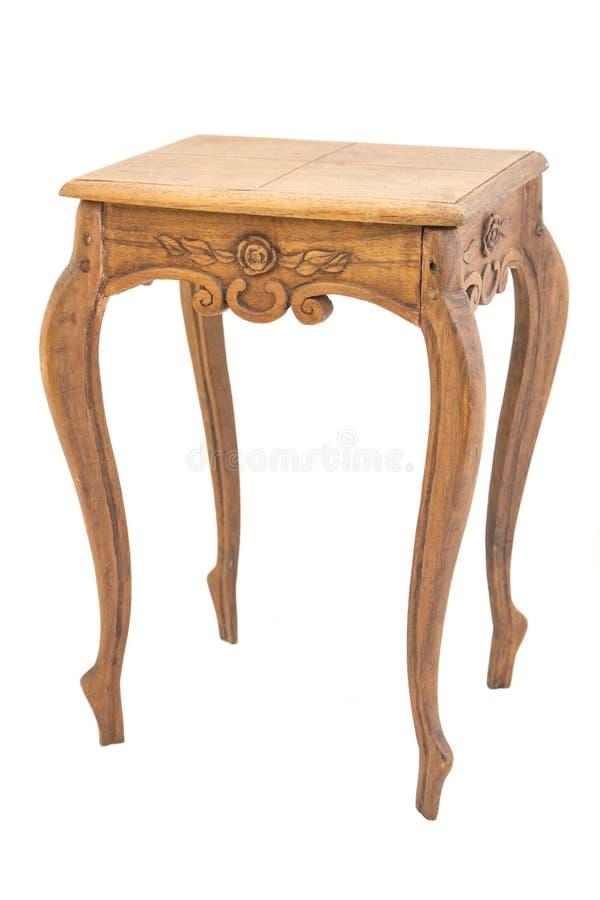 Античный деревянный стол стоковая фотография rf