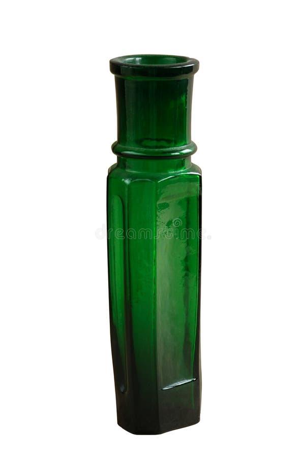античный изолированный бутылочный зеленый стоковая фотография