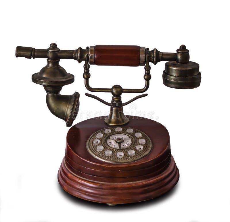 Download Античный изолированный телефон Стоковое Фото - изображение насчитывающей наушники, линия: 40575176