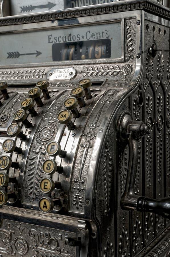 античный кассовый аппарат стоковые изображения