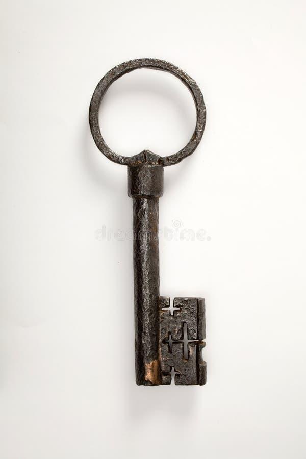 Античный ключ амбара стоковая фотография rf