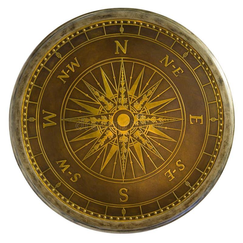 античный латунный компас стоковые фотографии rf