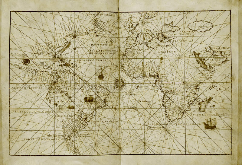 античный мир карты стоковые изображения rf