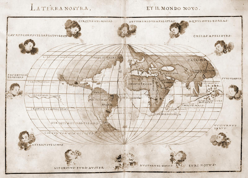 античный мир карты иллюстрация вектора